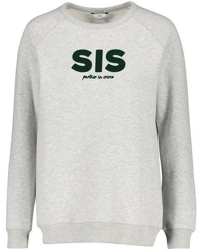 Lichtgrijze sweater 'SIS'